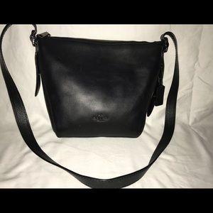 Coach Women's Natural Calf Leather SM Black purse